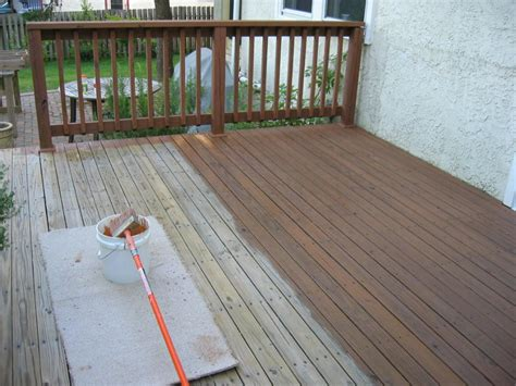 Can you stain a painted deck Image