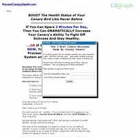 Canary lovers guide to preventing your canarys overnight death coupon