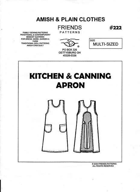 canning kitchen apron pattern.aspx Image