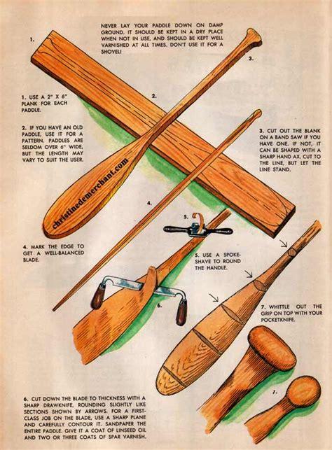 Canoe paddle woodworking plans Image