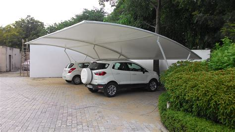 Car parking shade in delhi car parking shed manufacturers in gurgaon tensile car parking structure Image