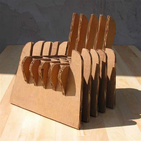 Cardboard chair design no glue Image