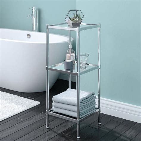 "Cardoso Glacier 13.25"" W x 33.75"" H Bathroom Shelf"