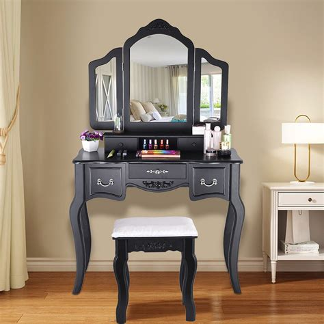 Cargo Wooden Vanity Set with Mirror