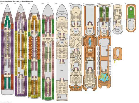 Carnival cruise inspiration deck plan Image
