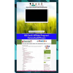What is the best carol's affiliate program homeschoolcpa com?
