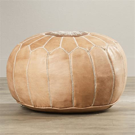 Carolos Leather Pouf