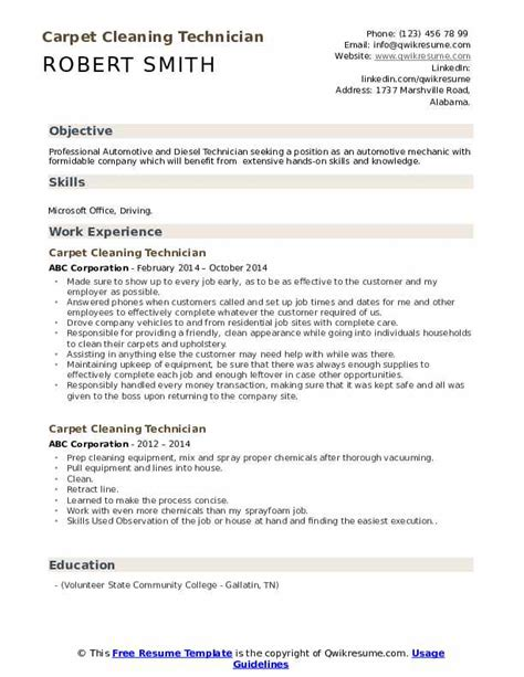 Resume Samples Housecleaners For Cleaningexamplessamples