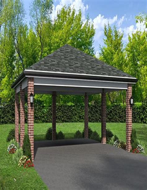 Carport plans hip roof Image
