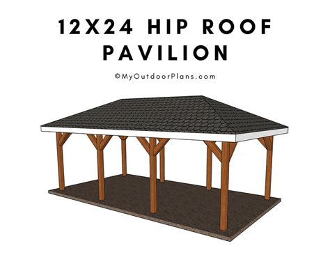Carport plans with full hip roof Image