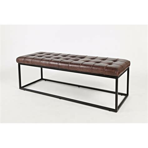 Carroll Genuine Leather Bench