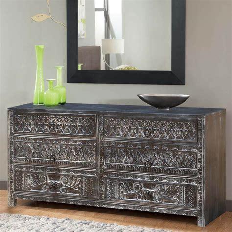 Carved wood dresser Image