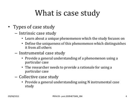 case study reflection example