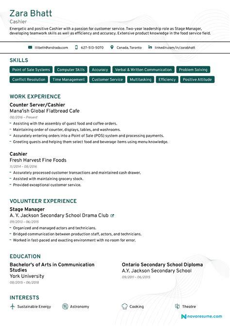 Cashier Resume Job Description Examples | Graduate Resume ...