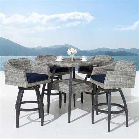 Castelli 5 Piece Sunbrella Bar Height Dining Set