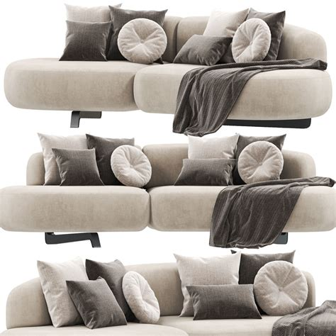 Castelli Loveseat and Ottoman with Cushions