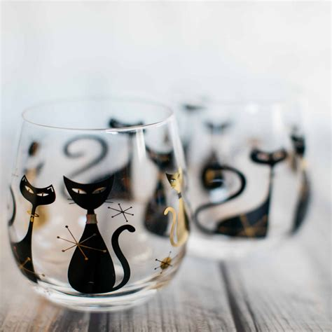 Cat Wine Glasses Custom Hand Painted Cat Dog Pet Wine Glass Painted