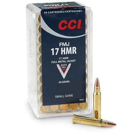 CCI 17 HMR Ammunition 50 Rounds FMJ 20 Grains - 0055