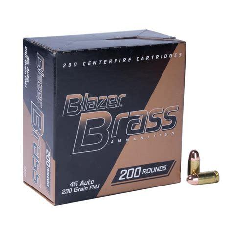 Cci 45 Auto Blazer Brass Handgun Ammo 200 Rounds Dick