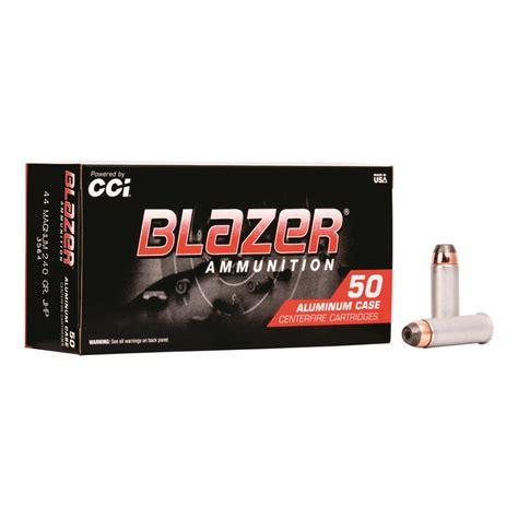 CCI Blazer Aluminum Case 44 Remington Magnum JHP 240