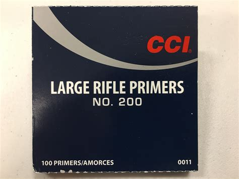 Cci Large Rifle Primers No 200 Box Of 100 Canada