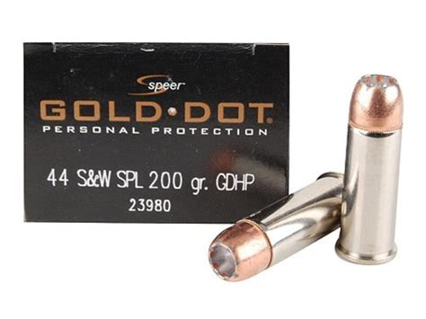 Cci Speer 44 Special 200 Grain Gold Dot Hollow Point