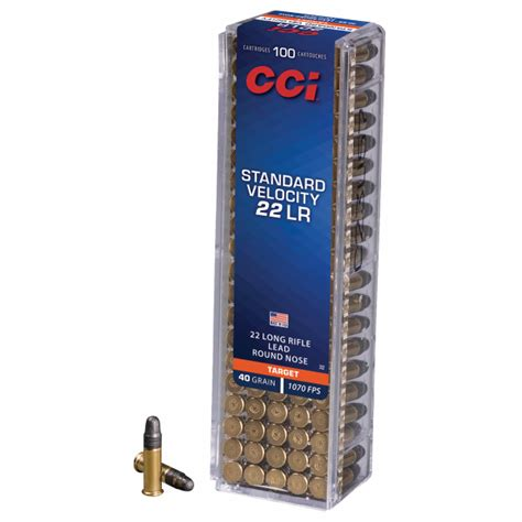 Cci Standard Velocity 22 Long Rifle Ammo 40 Grain Lrn