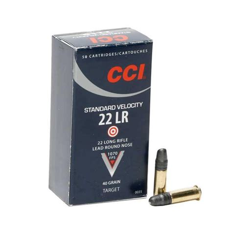 Cci Standard Velocity Ammo 22 Long Rifle 40gr