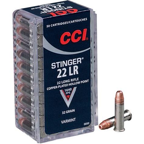 Cci Stinger Hypervelocity Ammo 22 Long Rifle 32gr Copper