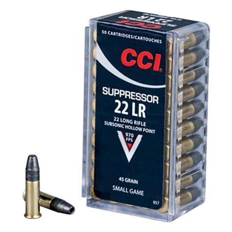 Cci Suppressor 22 Ammo