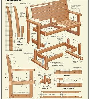 Cedar Glider Chair Plans