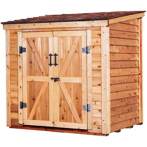 Cedar lean to shed Image