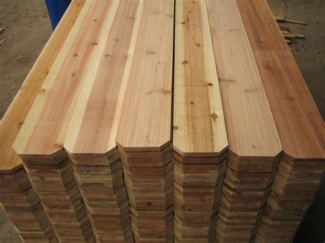 Cedar pickets Image