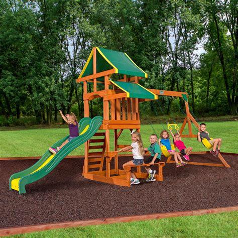 Cedar swing sets on sale Image