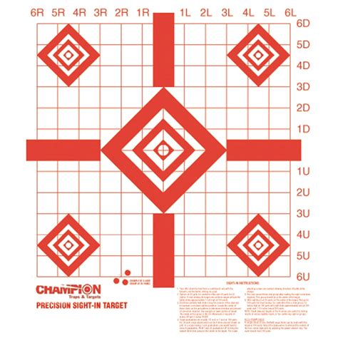 Champion Redfield Style Precision Sightin Target Pack Of