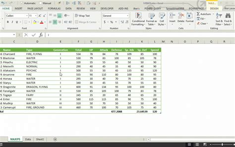 changed excel to table format how un-change