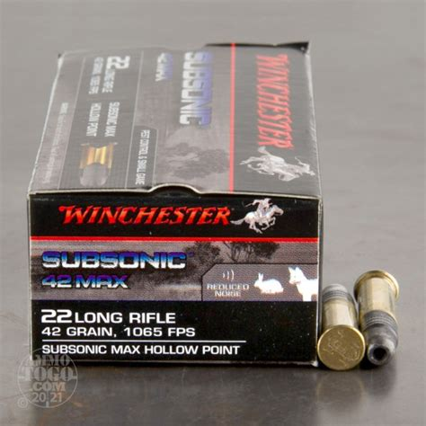 Cheap Price Contact Ammo 22 Long Rifle 42gr Subsonic Lead