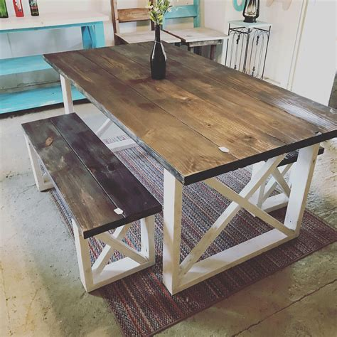 Cheap farmhouse table and chairs Image