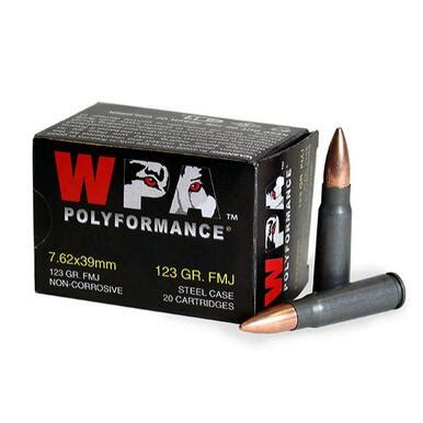 Check Price Polyformance Ammo 7 62x39mm 123gr Fmj With