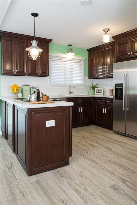 Cherry Cabinets And Wood Floors Image