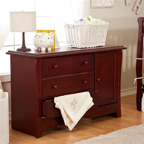Cherry wood baby dresser Image