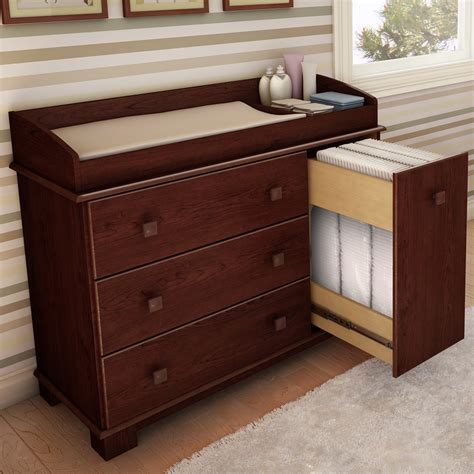 Cherry wood dresser and changing table Image