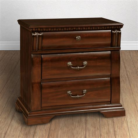 Cherry wood dresser and nightstand Image