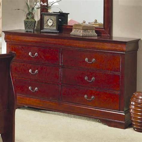 Cherry wood dresser furniture Image