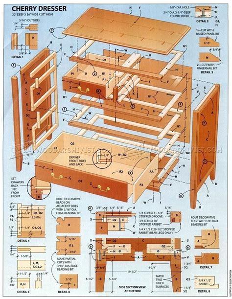 Cherry wood dresser plans Image