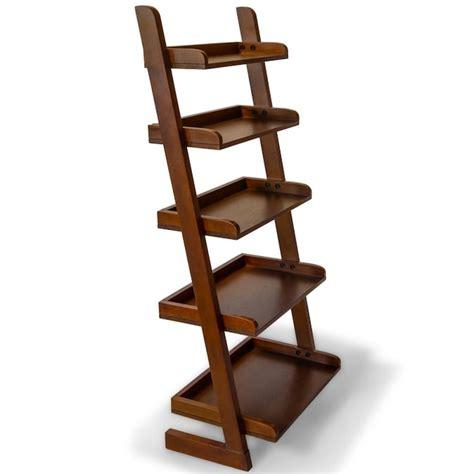 Cherry wood ladder shelf Image