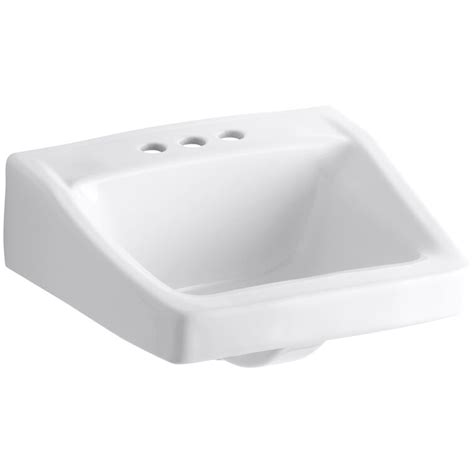 "Chesapeake Ceramic 20"" Wall Mount Bathroom Sink with Overflow"