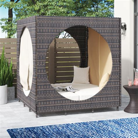 Chessani Cube Patio Daybed with Cushions