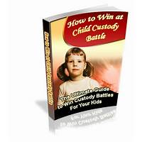 Child custody strategies men's & women's deluxe packages step by step