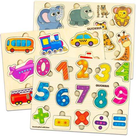 childrens wooden puzzles Image
